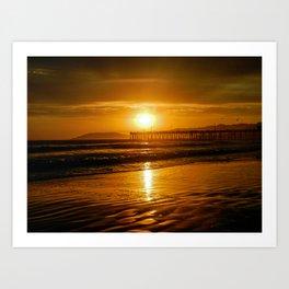 Pismo Beach Sunset Art Print