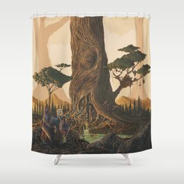 The Ancient Heart Tree Shower Curtain