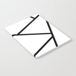 Black and White Fragments - Geometric Design I Notebook