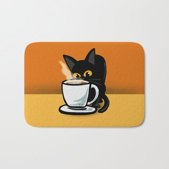 Coffee cat Bath Mat