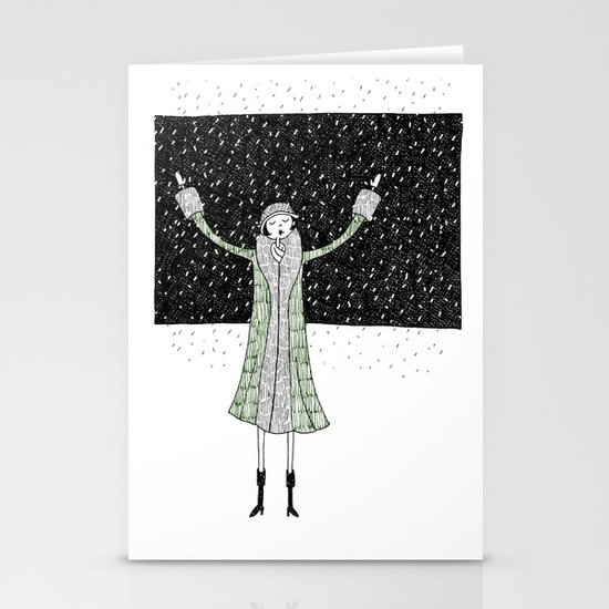 Eloise loves winter Stationery Cards