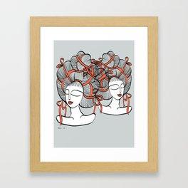 Tangled Ribbons Framed Art Print