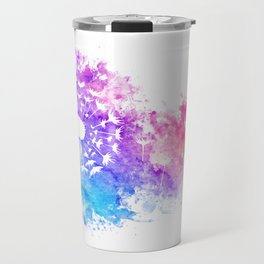 Watercolor Dandelion Travel Mug