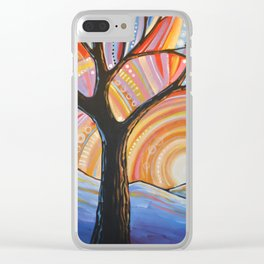 Abstract Art Landscape Original Painting ... Mountain Majesty Clear iPhone Case