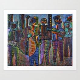 Gods Of Jazz Come To New York City Art Print