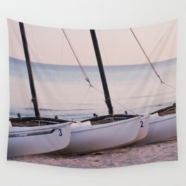 Countdown to the adventure - Sailboats - Caribbean - Fine Art Travel Photograpphy Wall Tapestry
