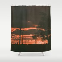detroit Shower Curtains featuring Detroit by Amber Hewitt