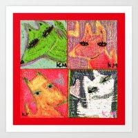 FOX OR DOG Art Print