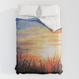 Sunset Red Comforters