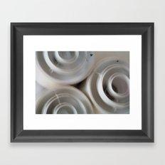 vintage blurry luminaries Framed Art Print