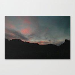 Big Bend Sunset Canvas Print