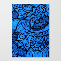 Tangle on blue Canvas Print
