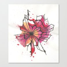 Pink and yellow Flower Explosion  Canvas Print