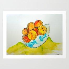 Juicy Orange Bowl Art Print