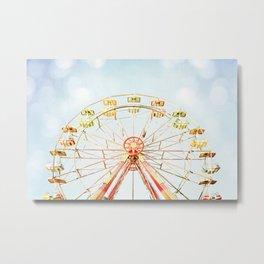 Ferris Wheel Photography, Carnival Nursery Photograph, Circus Photo Print, Babys Room Art Metal Print
