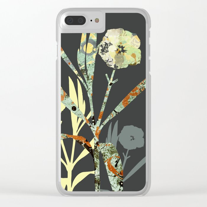 Floral Decor III Clear iPhone Case