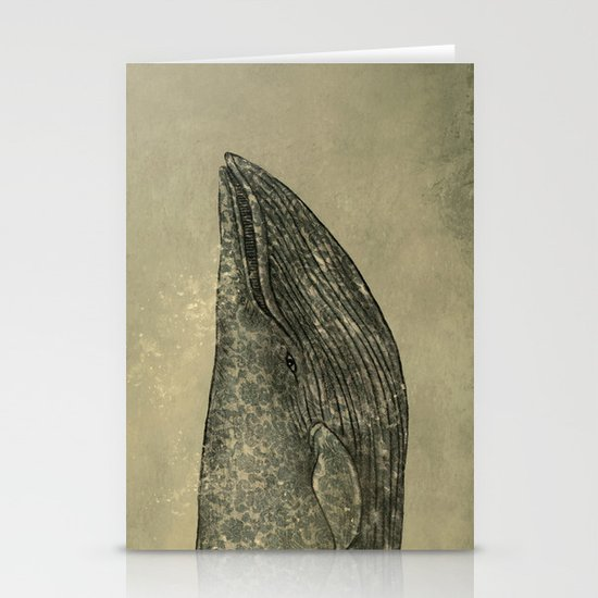 Damask Whale  Stationery Cards