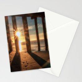 Through the Blinds sun bursts through Avila Pier Avila Beach California Stationery Cards