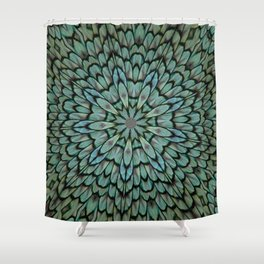 Attractive Peacock Feathers Kaleidoscope Shower Curtain