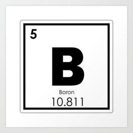 Boron chemical element Art Print