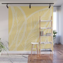 Golden Yellow Banana Leaves Wall Mural