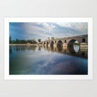 Meric Bridge Art Print