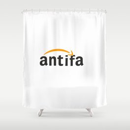 AMAZ0N FLIPPED ANTIFA LOGO Shower Curtain