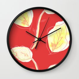 Lief pattern red Wall Clock