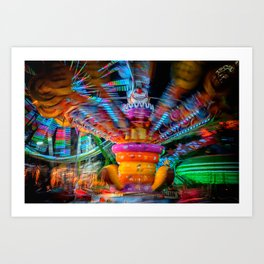 Cray Cray crazy fun at the carnival Art Print