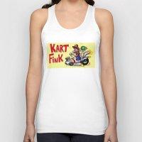 mario kart Tank Tops featuring Kart Fink Big Bro! by Avedon Arcade