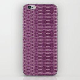 Hopscotch hex-Plum iPhone Skin