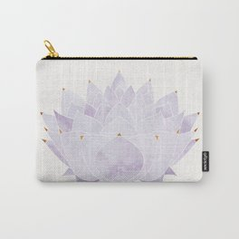 Lavender Lotus Blossom Carry-All Pouch