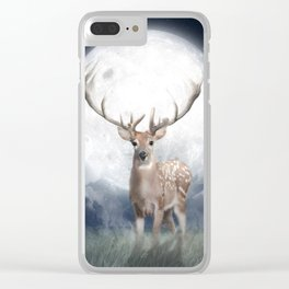 Midnight Deer Clear iPhone Case