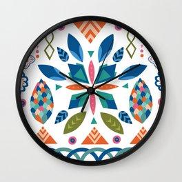Folk art Wall Clock