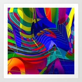 O V E R S T R U N G Art Print