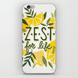 Zest for Life – Yellow & White Palette iPhone Skin