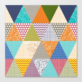 seaview beauty triangles Canvas Print