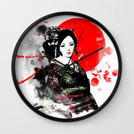 Kyoto Geisha Japan Wall Clock