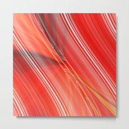 Abstract orangered Metal Print