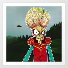 MARS ATTACKS LEADER Art Print