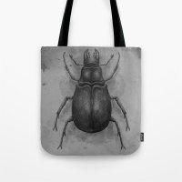 beetle Tote Bags featuring Beetle by Salih Gonenli
