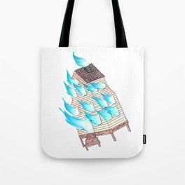 Burn Up, Not Down Tote Bag