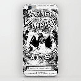 Varney the Vampire iPhone Skin