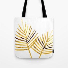 Palm Leaf Illustration white background Tote Bag