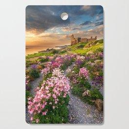Scottish Castle ruin at Sunset Cutting Board