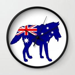 Australian Flag - Wolf Wall Clock