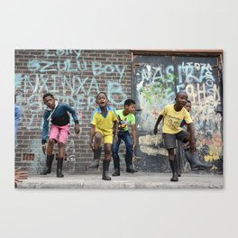Happy Feet, Langa Township, South Africa Canvas Print