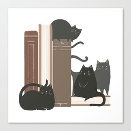 CATS + BOOKS Canvas Print