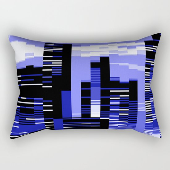 pxl cityscape Rectangular Pillow
