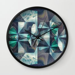 Blue Ceilings Wall Clock